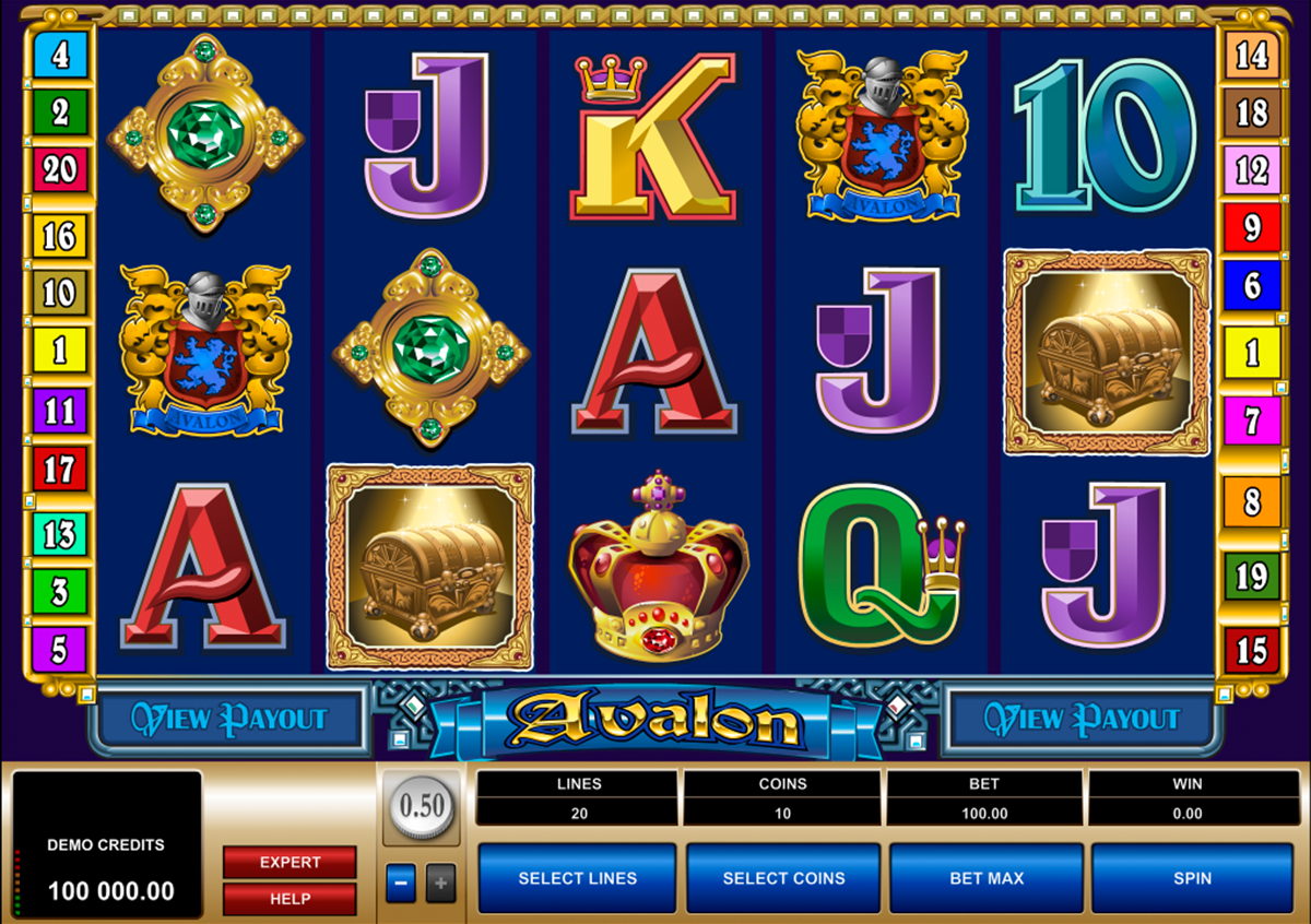 Enjoy the No Download Legends of Avalon Slots