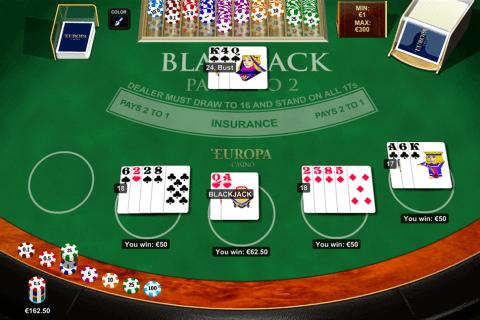 Blackjack Multihand 5 By Playtech Free Online Blackjack