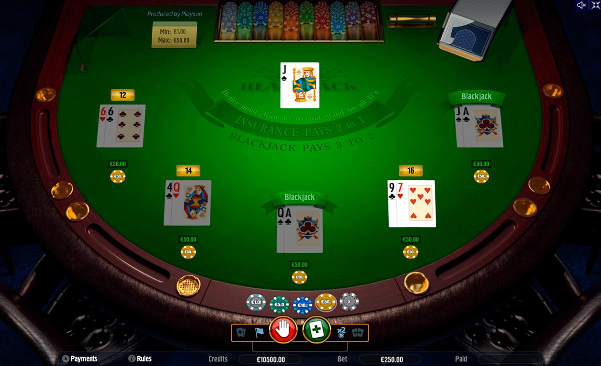 blackjack playson online