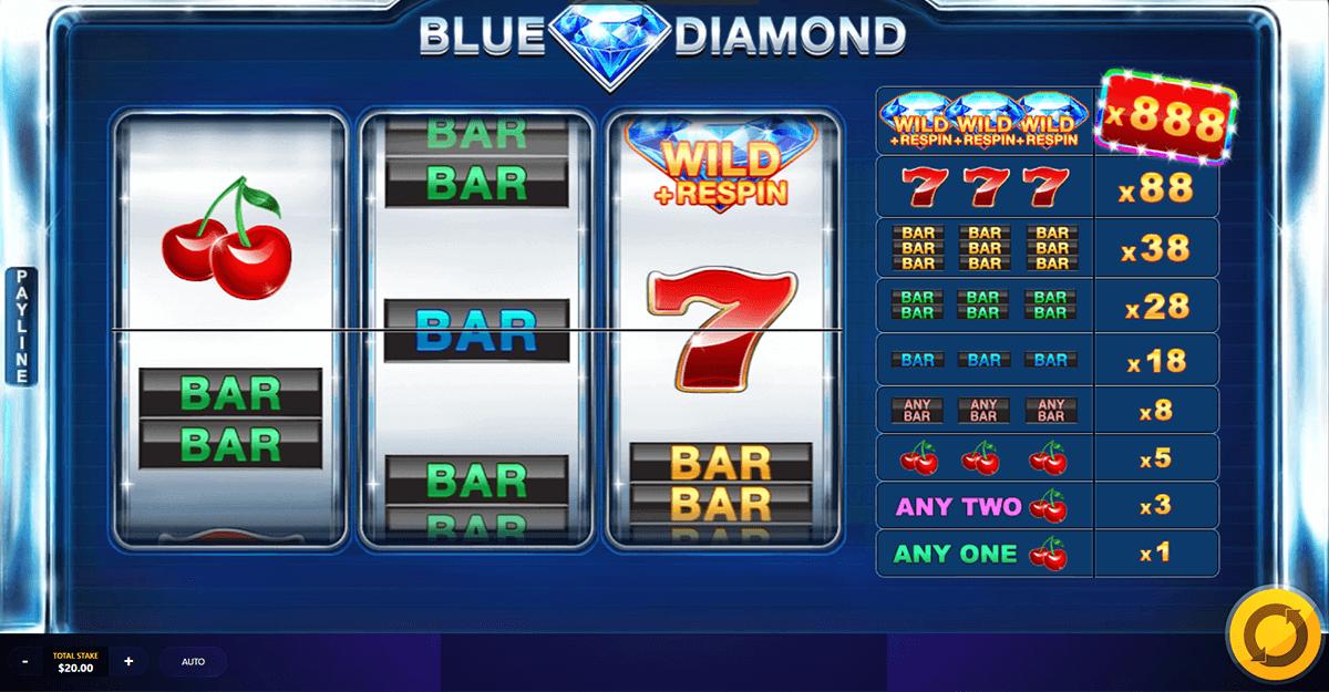 blue diamond red tiger slot