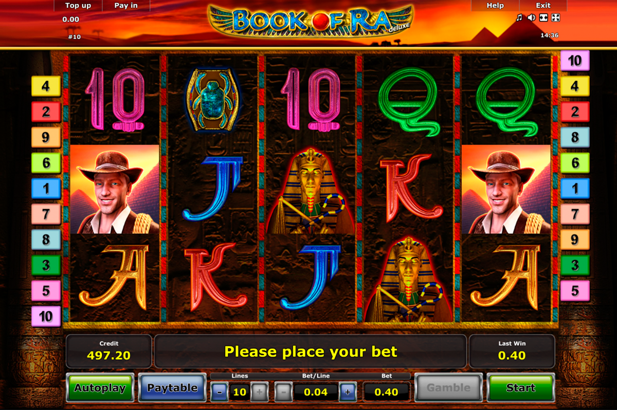 book of ra deluxe novomatic slot