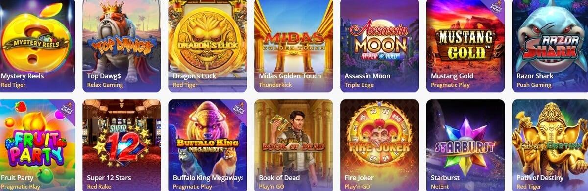 casinodays slot games