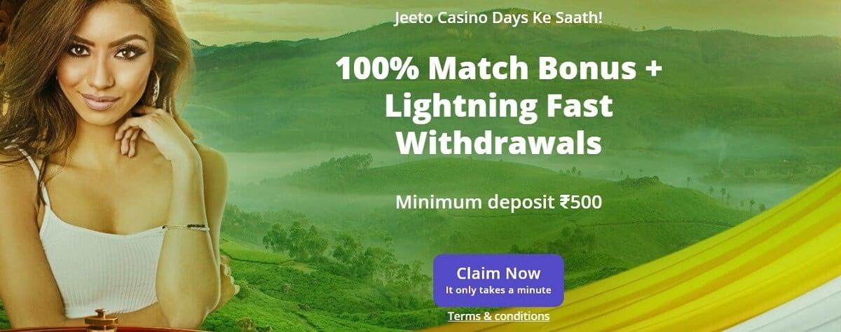 casinodays welcome bonus