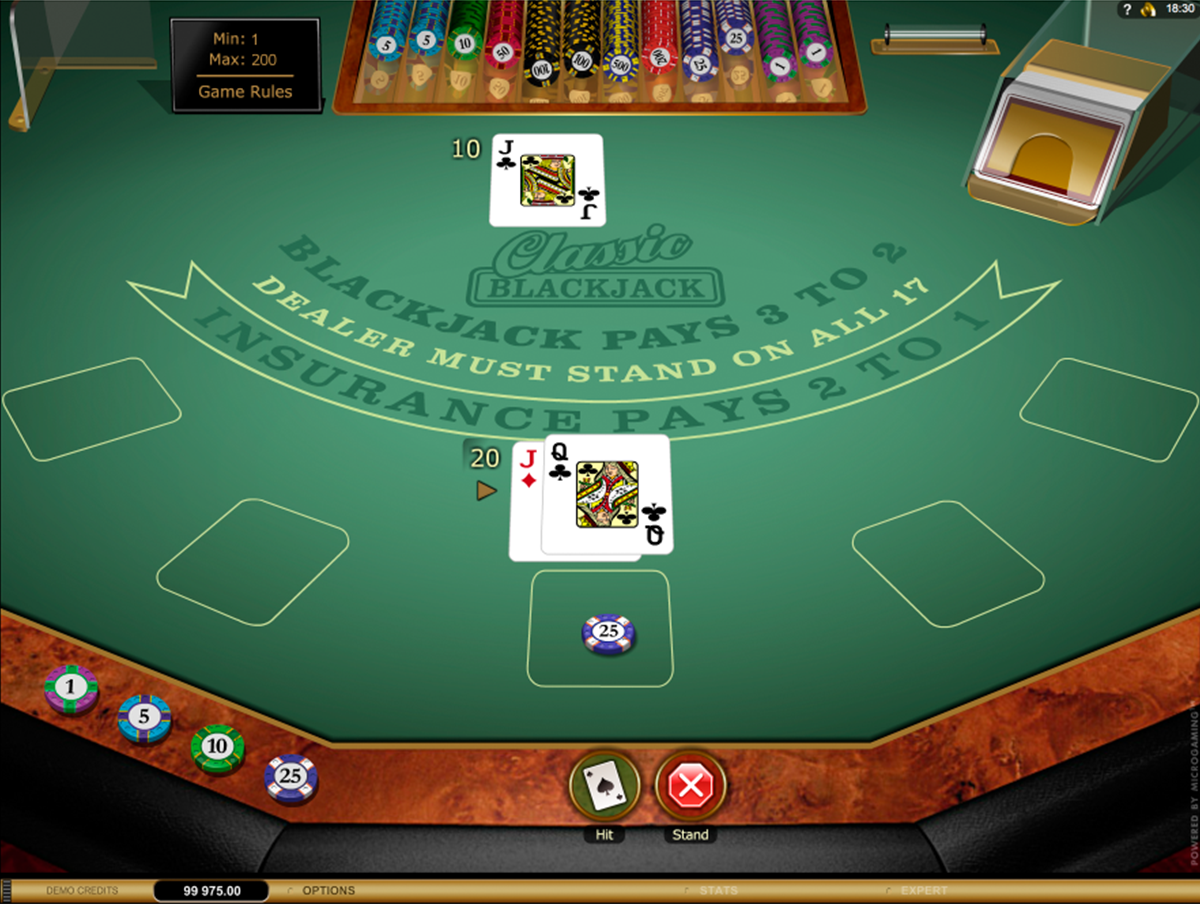 classic blackjack gold microgaming online