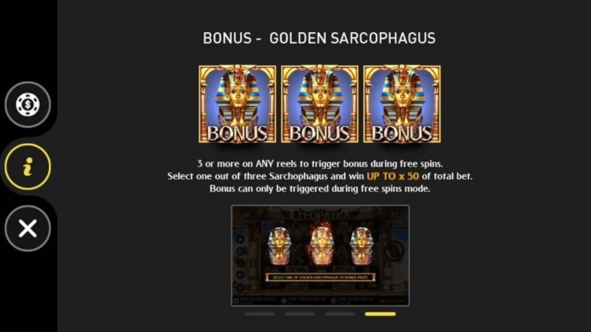 cleopatra slot bonus game