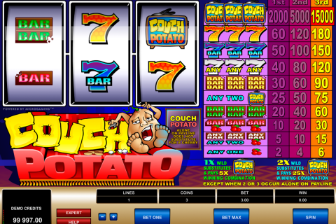 couch potato microgaming slot