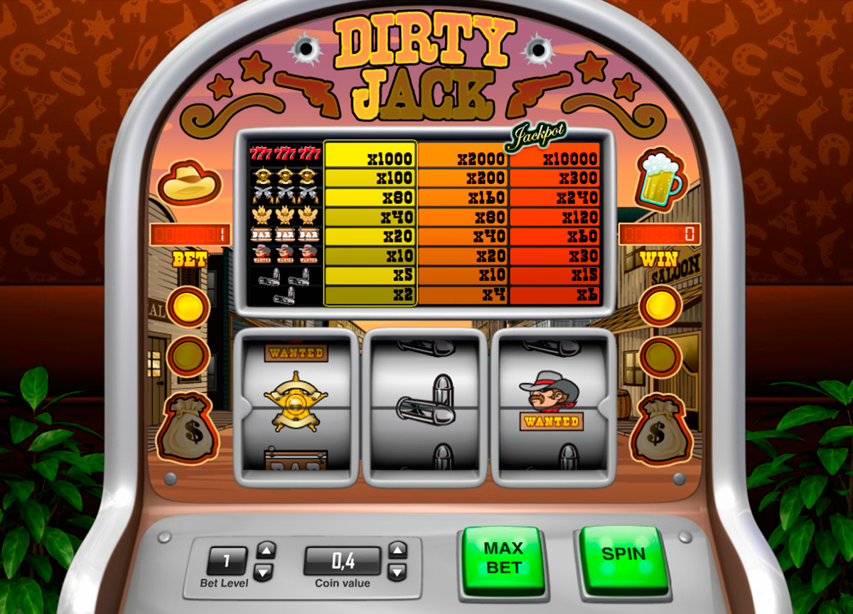dirty jack pariplay slot