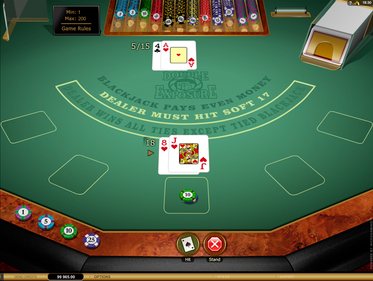 double exposure blackjack gold microgaming online
