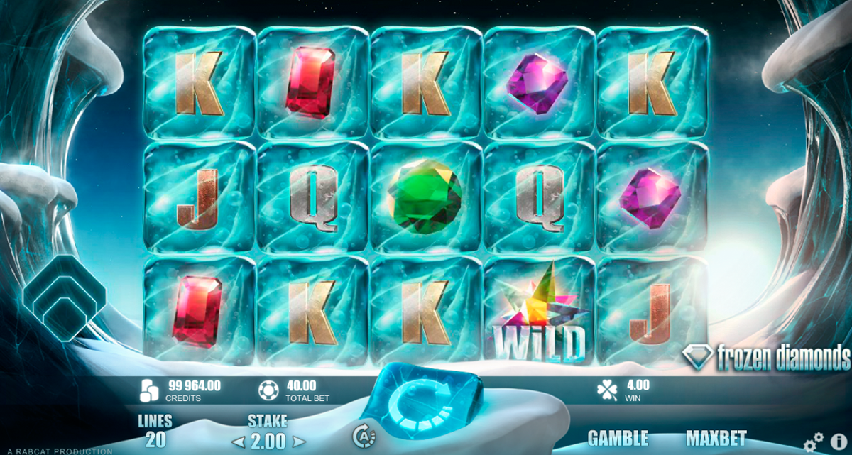 frozen diamonds rabcat slot