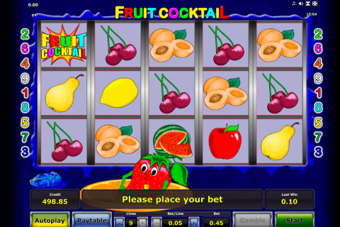 fruit cocktail novomatic slot