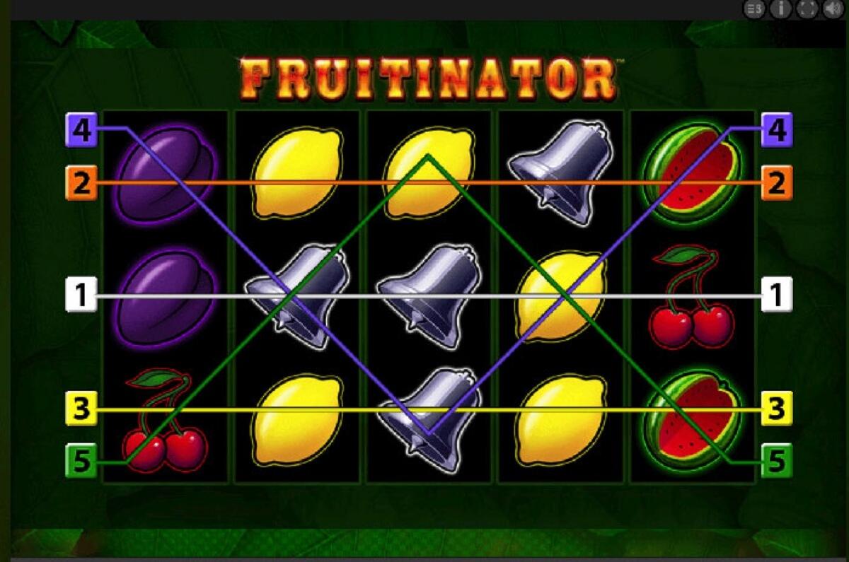 fruitinator slot paylines