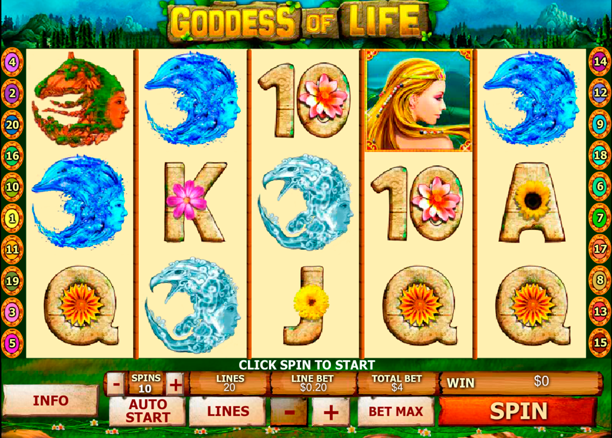 goddess of life playtech slot