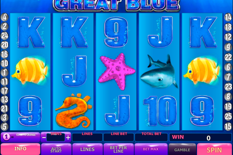 great blue playtech slot