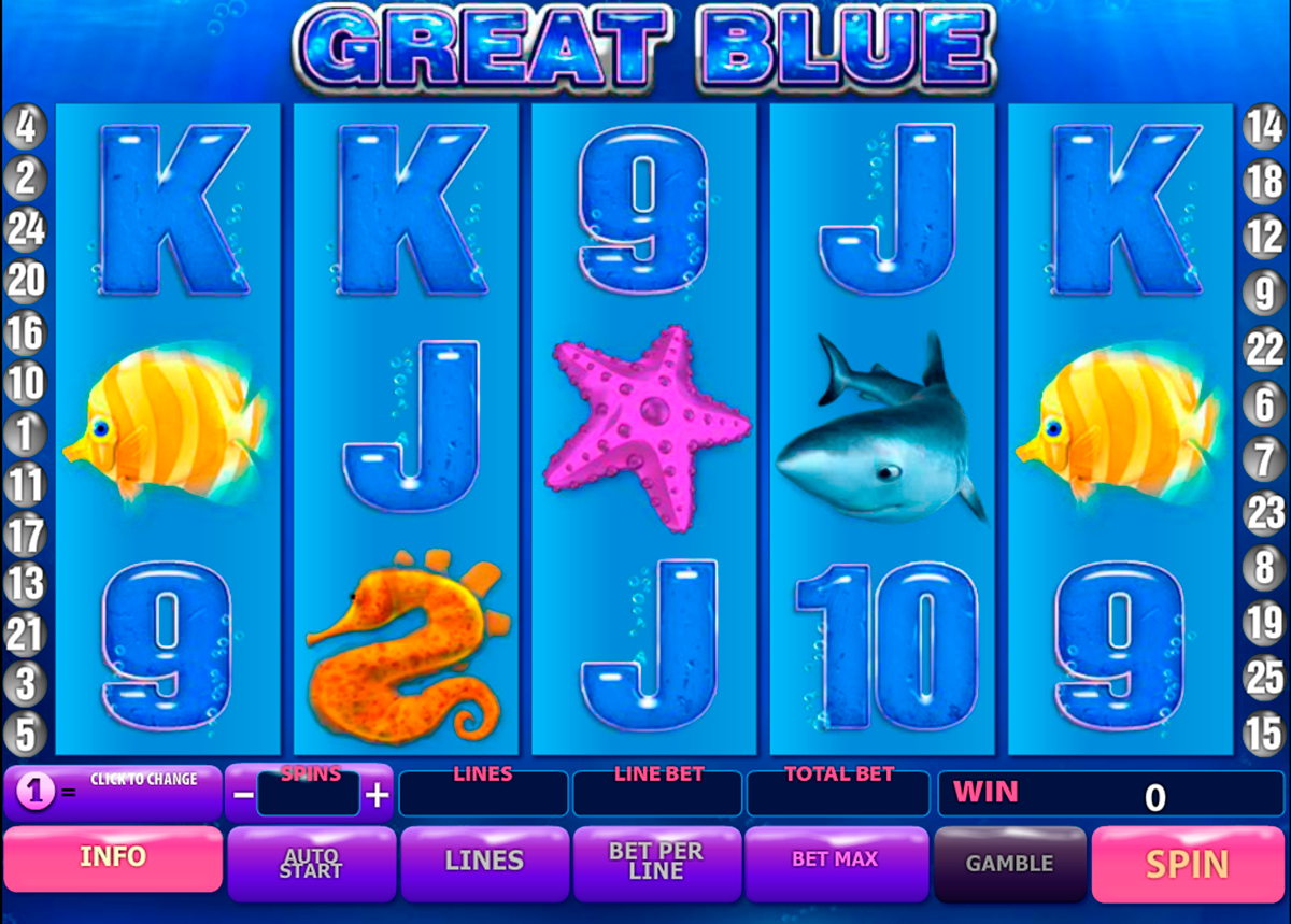 great blue playtech slot