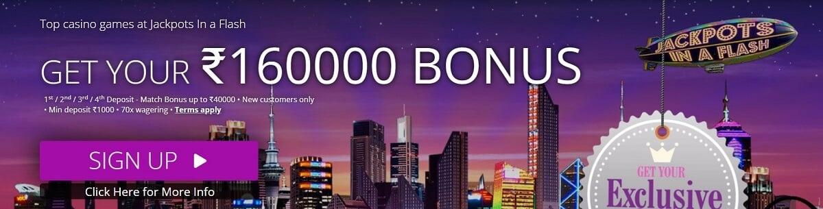 jackpot in a flash casino bonus