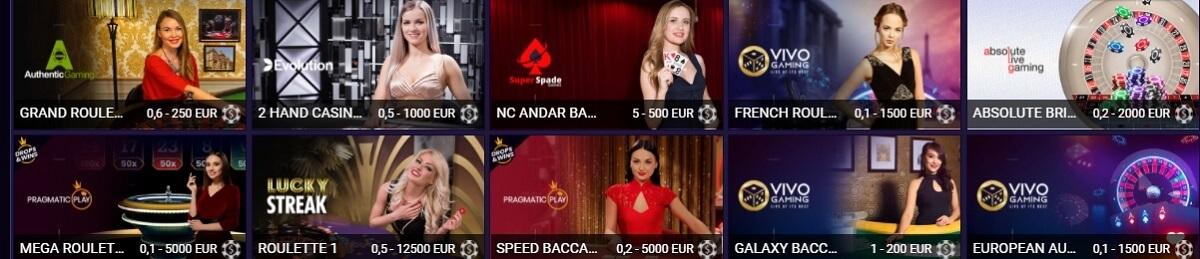 jvspin live casino games