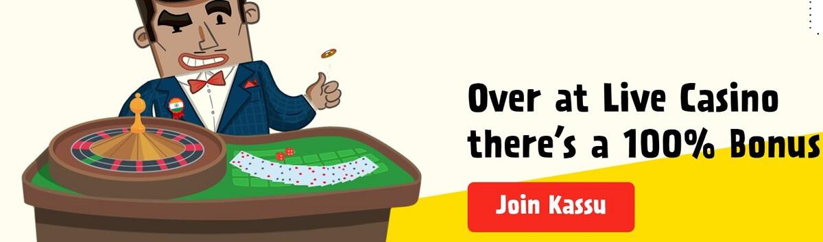 kassu live casino bonus
