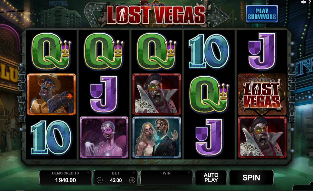 lost vegas microgaming slot