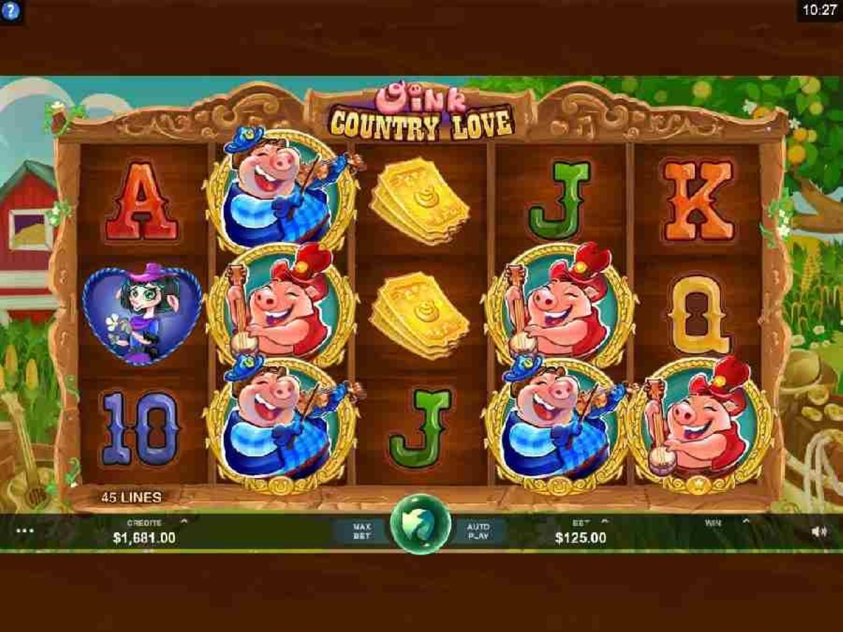 oink country love slot gameplay