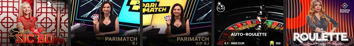parimatch live casino games