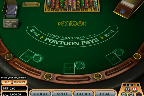 pontoon blackjack betsoft online