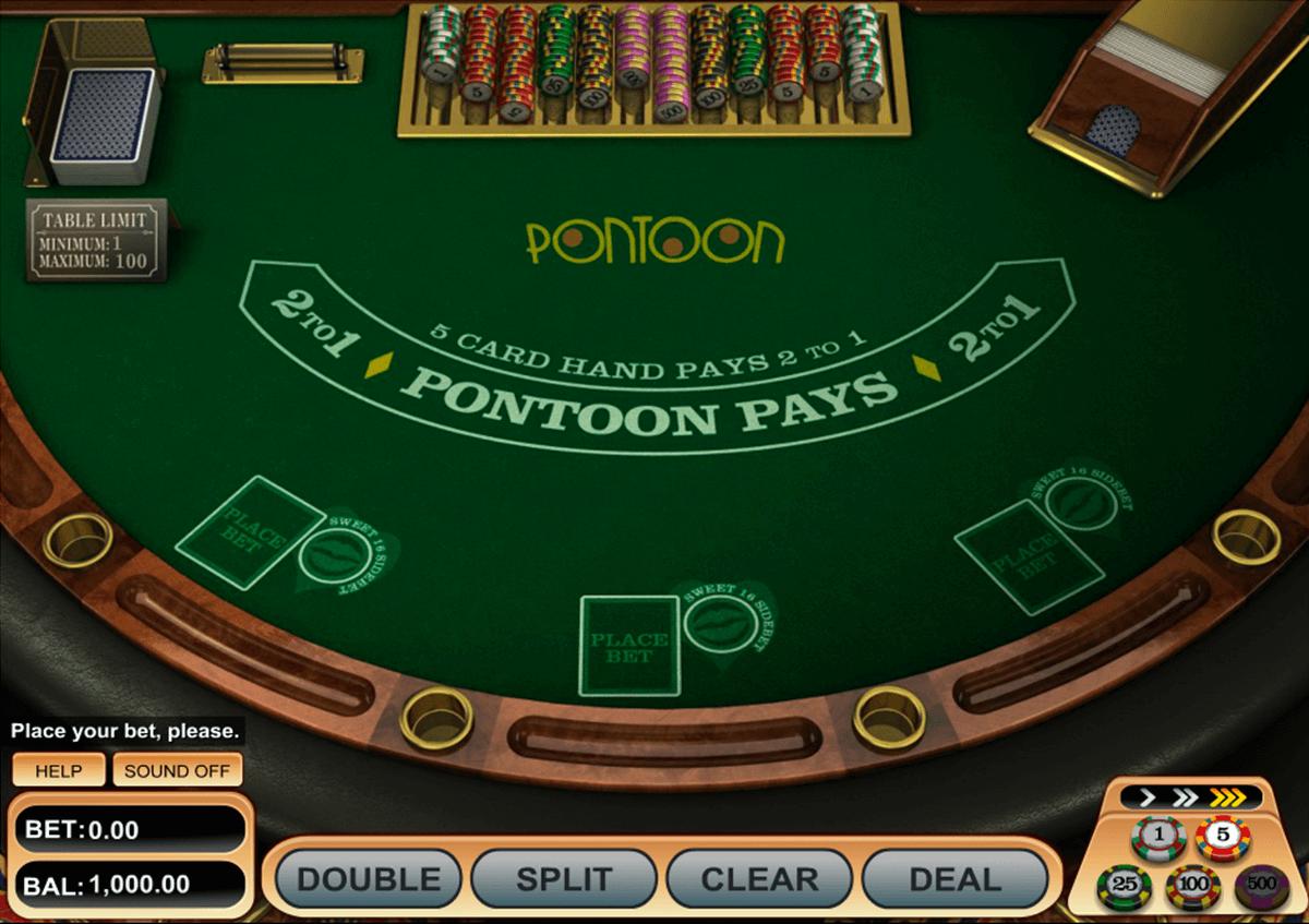 pontoon blackjack betsoft online