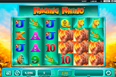 raging rhino wms slot