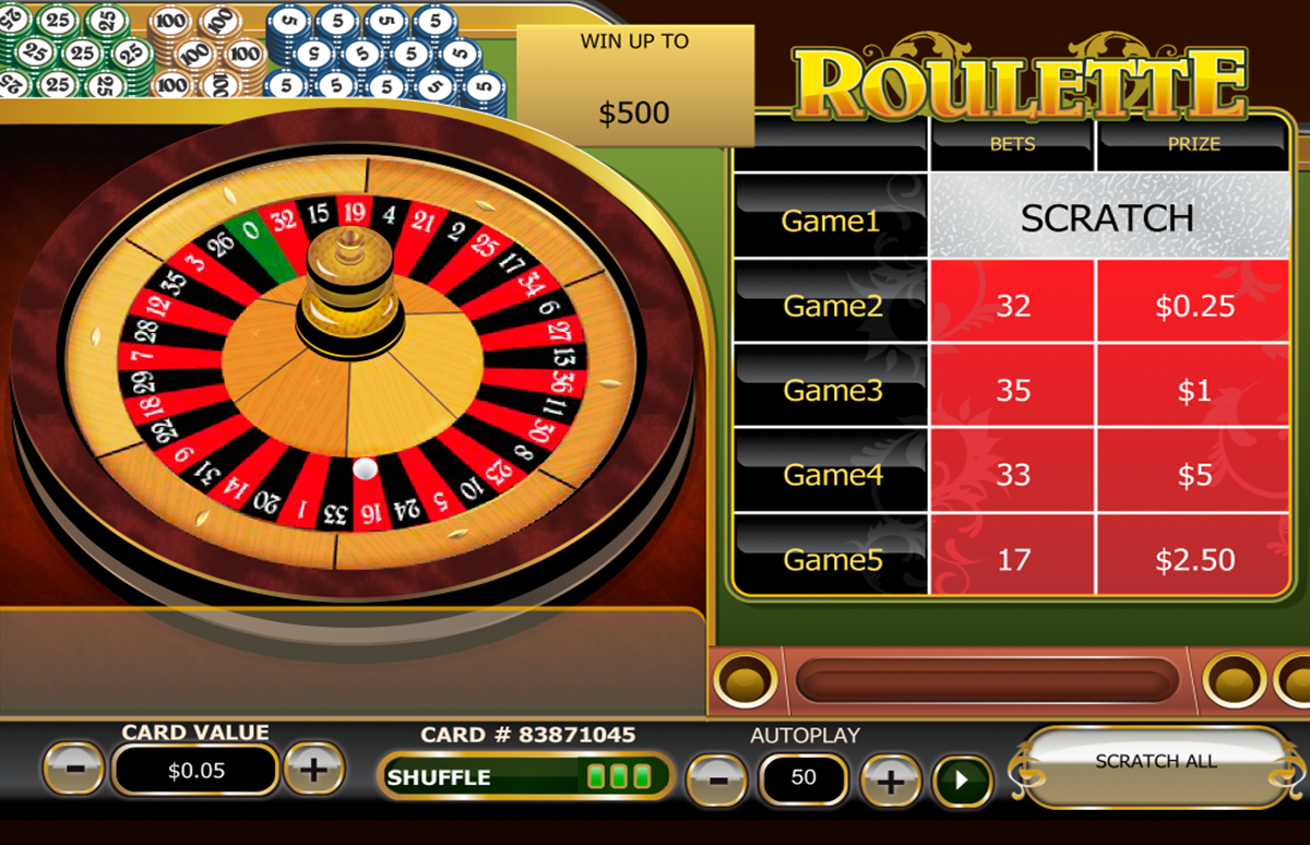 roulette scratch playtech