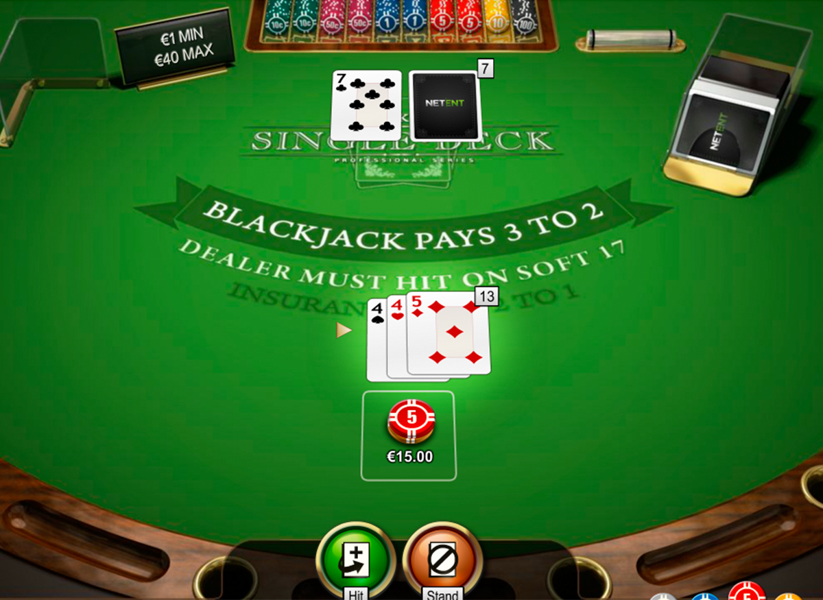 single deck blackjack netent online