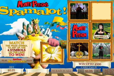 spamalot scratch playtech