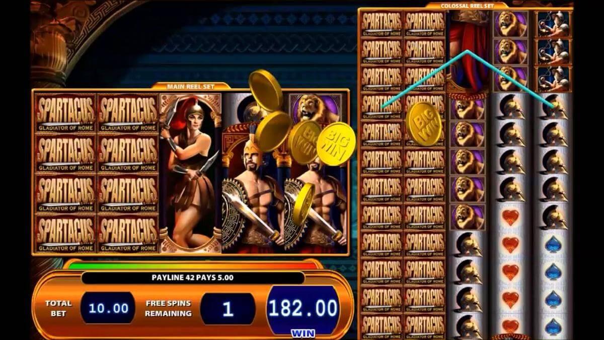 spartacus slot gameplay