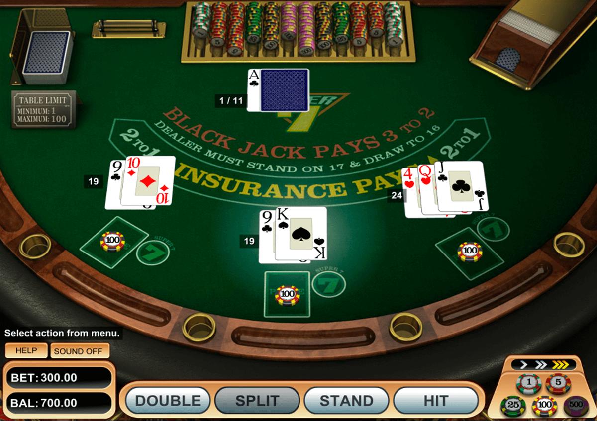 super 7 blackjack betsoft online