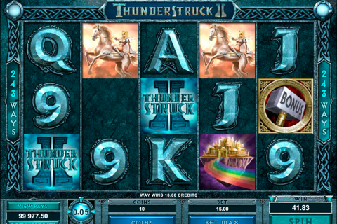 thunderstruck ii microgaming slot