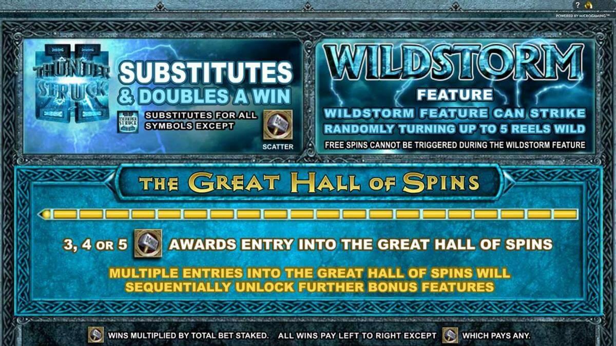 thunderstruck bonus features