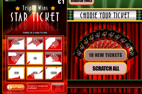 triple wins star ticket netent