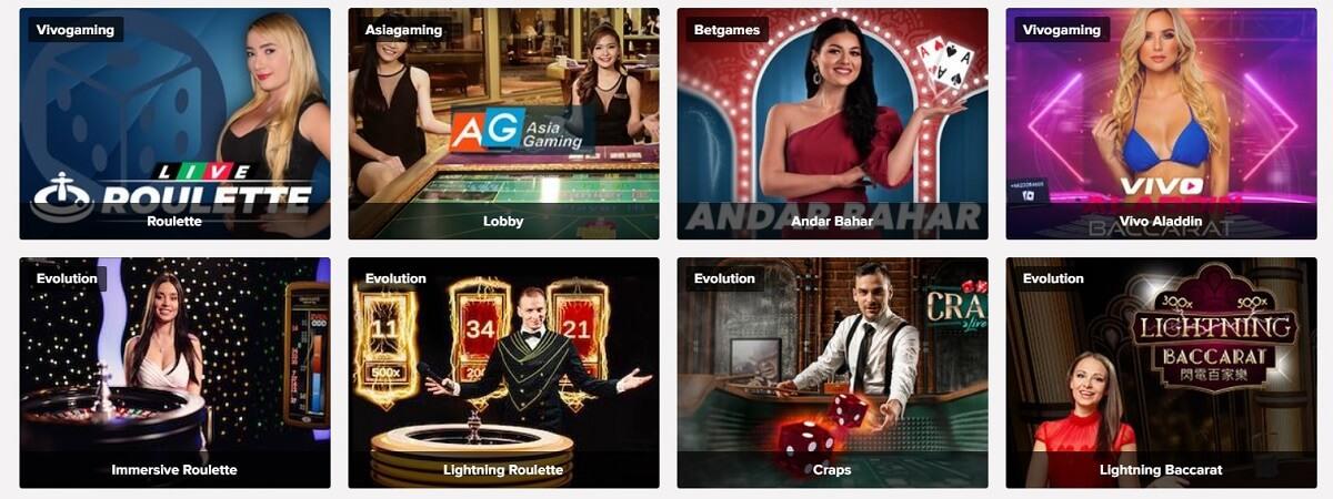 live games on tusk casino