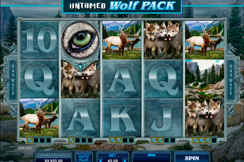 untamed wolf pack microgaming slot